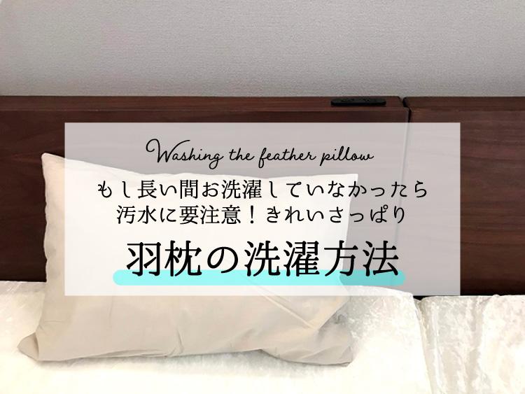 羽枕の洗濯アイキャッチ