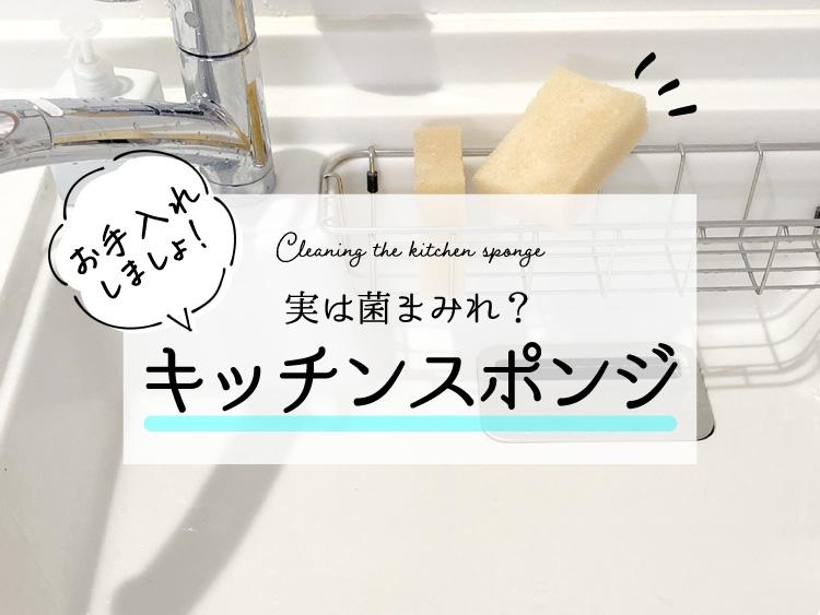 キッチンスポンジのお手入れアイキャッチ